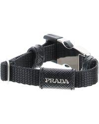 Prada Belt Buckle Nylon Bracelet S Technical - Black