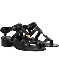 Celine Sandals Leather - Black