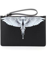 Marcelo Burlon Pouch With Wings Print - Black