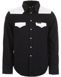 Calvin Klein Colour Block Western Shirt - Black