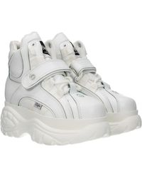 Buffalo Sneakers Leather - White