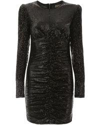 MICHAEL Michael Kors Draped Sequins Dress - Black
