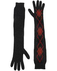 Prada Gloves Wool - Gray