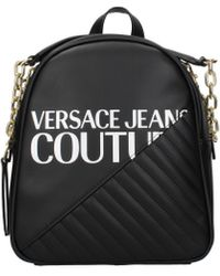 Versace Black Backpacks And Bumbags