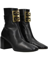 Givenchy 4g Ankle Boots - Black