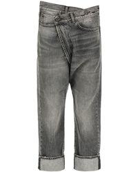 R13 Crossover Shorts - Grey