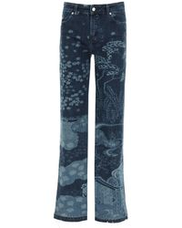 RED Valentino All-over Printed Jeans 38 Cotton,denim - Blue
