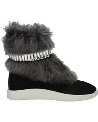 Giuseppe Zanotti Sneakers Suede - Black