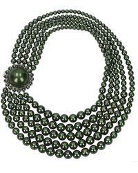 Miu Miu Necklaces Brass - Green