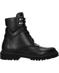 Moncler Ankle Boots Patty Leather - Black