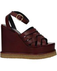 Celine Red Sandals