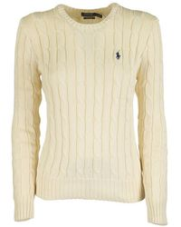 Ralph Lauren Slim Fit Cable-knit Sweater - Natural
