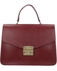 Furla Red Handbags Metropolis