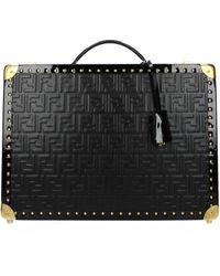 Fendi Suitcases Men Black