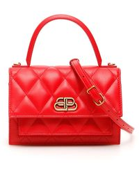 Balenciaga Sharp Xs Quilted Bag - Red