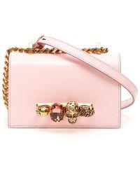 Alexander McQueen Small Jeweled Satchel - Pink