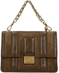 Fendi Handbags Kan Leather - Brown