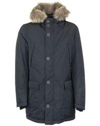 Herno Medium Parka With Fur Hood - Multicolour