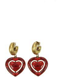 Balenciaga Red Earrings