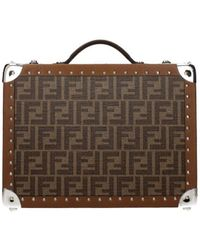 Fendi Suitcases Men Brown