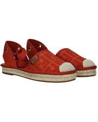 Fendi Espadrilles Fabric - Red