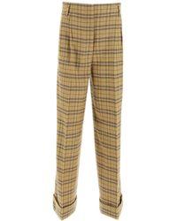 Acne Studios Payge Checkered Pants - Natural