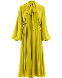 Valentino Pussy Bow Dress - Yellow