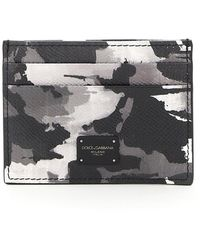 Dolce & Gabbana Camouflage Print Card Holder Os Leather - Multicolour