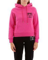 Moschino Teddy Label Hoodie - Pink