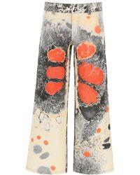 Chopova Lowena Multicolour Denim Jeans S Denim,cotton - Red