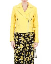 MICHAEL Michael Kors Biker Jacket - Yellow