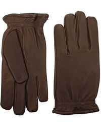 Orciani Gloves Leather Chestnut - Brown
