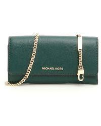 Michael Kors Wallet On Chain - Green