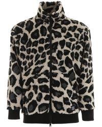 MSGM Faux Shearling Jacket - Black
