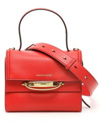 Alexander McQueen The Story Bag - Red