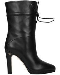 Gucci Boots Charlotte Leather - Black