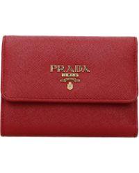 Prada Wallets Women Red