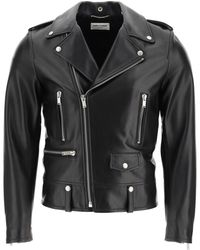 Saint Laurent Biker Leather Jacket - Black