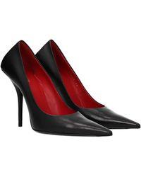Balenciaga Court Shoes Leather - Black