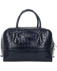 Prada Handbags Leather Crocodile - Blue