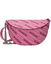 Balenciaga Pink Backpacks And Bumbags
