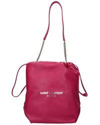 Saint Laurent Shoulder Bags Pochon Women Fuchsia - Pink