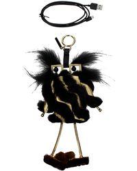 Fendi Pendants Battery Charger Iphone 7 Plus Fur - Black