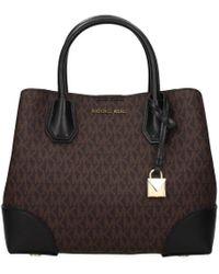 Michael Kors Handbags Mercer Gallery Sm Women Brown