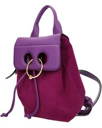 JW Anderson Violet Backpacks And Bumbags - Purple