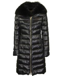 Herno Elisa Fur Trimmed Collar Padded Coat - Black