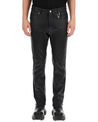 1017 ALYX 9SM Six Pocket Leather Trousers 46 Leather - Black