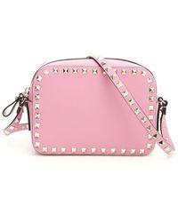 Valentino Rockstud Crossbody Bag - Pink