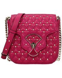 BVLGARI Crossbody Bag Leather - Purple