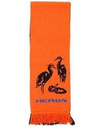 Heron Preston Bicolor Scarf - Orange